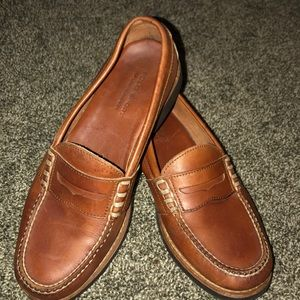 RALPH LAUREN POLO BROWN LEATHER PENNY LOAFERS